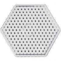 Perlebrett, hexagon, JUMBO, transparent, 1 stk.