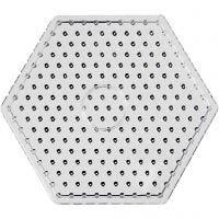 Perlebrett, hexagon, JUMBO, transparent, 5 stk./ 1 pk.