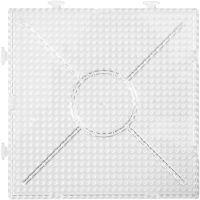 Perleplater, str. 15x15 cm, transparent, 2 stk./ 1 pk.