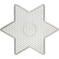 Perleplate, stor stjerne, str. 15x15 cm, 10 stk./ 1 pk.