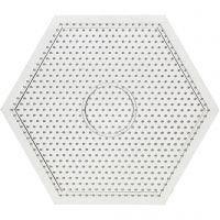 Perleplater, str. 15x15 cm, transparent, 1 stk.