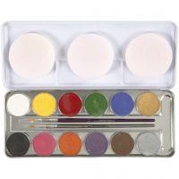 Eulenspiegel Ansiktsmaling, ass. farger, 12 farge/ 1 sett