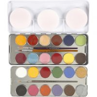 Eulenspiegel Ansiktsmaling, ass. farger, 24 farge/ 1 sett
