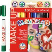 Playcolor Make up, ass. farger, 6x5 g/ 1 pk.