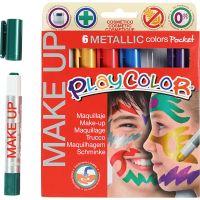 Playcolor Make up, metallisk, ass. farger, 6x5 g/ 1 pk.