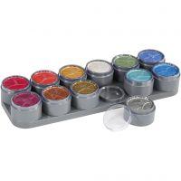Grimas Ansiktsmaling - Sminkepalett, perlemorsfarger, 12x15 ml/ 1 stk.