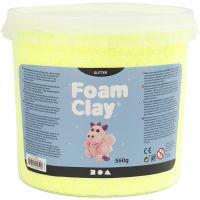 Foam Clay® , glitter, gul, 560 g/ 1 spann