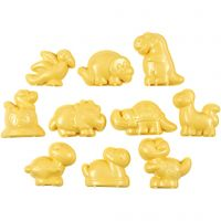 Sandformer, dinosaurer, str. 4,5-6 cm, 10 stk./ 1 pk.