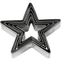 Utstikksformer, stjerne, str. 8 cm, 5 stk./ 1 pk.