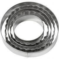 Utstikksformer, sirkel, str. 8 cm, 5 stk./ 1 pk.