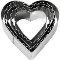 Utstikksformer, hjerte, str. 8 cm, 5 stk./ 1 pk.