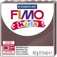 FIMO® Kids leire, brun, 42 g/ 1 pk.