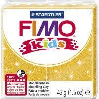 FIMO® Kids leire, glitter, gull, 42 g/ 1 pk.