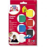FIMO® Kids leire, standardfarger, 6x42 g/ 1 pk.