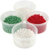 Pearl Clay® , grønn, rød, hvit, 1 sett, 3x25+38 g