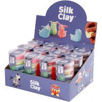 Silk Clay®, neonfarger, standardfarger, 12 sett/ 1 pk.