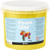 Foam Clay® , metallisk, gul, 560 g/ 1 spann