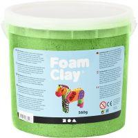 Foam Clay® , metallisk, grønn, 560 g/ 1 spann
