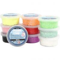 Foam Clay® , glitter, ass. farger, 10x35 g/ 1 pk.