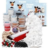 Klassesett til polardyr av Foam Clay® , ass. farger, 1 sett