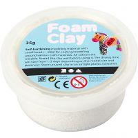 Foam Clay® , hvit, 35 g/ 1 boks