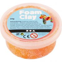 Foam Clay® , neon orange, 35 g/ 1 boks