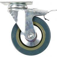 Inventarhjul, H: 130 mm, dia. 100 mm, 4 stk./ 1 pk.