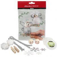 Kreativt minikit, engler på klemmer, 1 sett