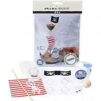 Kreativt Minikit, Eggbrett piratskip, 1 sett