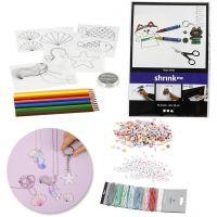 Kreativ-pakke - Smykker av perler og krympeplast, 1 sett