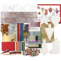 Juleklippepakke, ass. farger, 1 sett