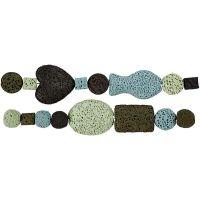 Luksus Perleharmoni, dia. 6-37 mm, hullstr. 2 mm, blå/grønn harmoni, 1 sett