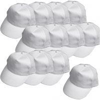Caps, str. 49,5-56 cm, hvit, 12 stk./ 1 pk.