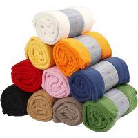 Fleece, L: 125 cm, B: 150 cm, ass. farger, 10 stk./ 1 pk.