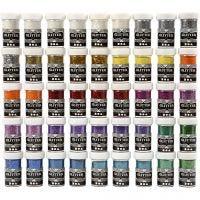 Glitter, ass. farger, 46x20 g/ 1 pk.