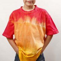 Dip'n dye og batikk på T-shirt