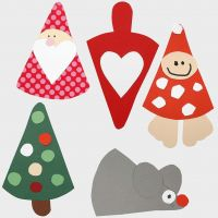 Juleklipp - figurer etter fleksibel sjablong