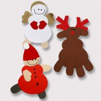 Reinsdyr og andre julefigurer av kartong