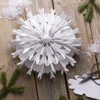 Snøfnugg stjerne av papirspose