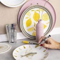 Gi gammelt porselen nytt liv med glass og porselenstusj