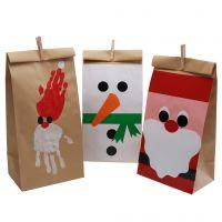 Flotte juleposer med pynt av glanspapir