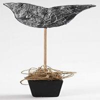Værhane med gipsgaze og Art Metall