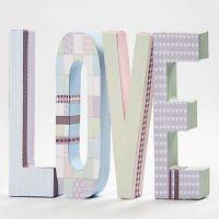 Pappbokstaver med Vivi Gade Design papir