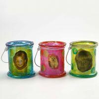 Glassdecoupage på lanterner