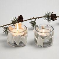 Julelysglass med Silk Clay
