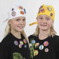 Badges med glittereffekt
