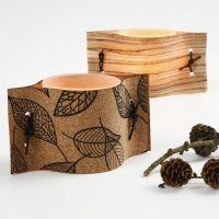 Lysglass med naturmaterialer