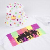 T-shirt dekorert med Neon tekstilmaling
