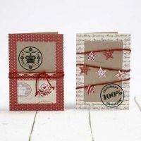 Kvistkort pyntet med papir fra Vivi Gade Design