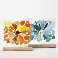 Glassmosaikk på glassplater